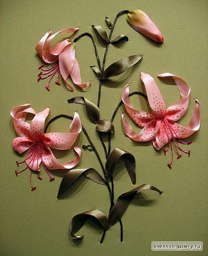 Flores con cintas: