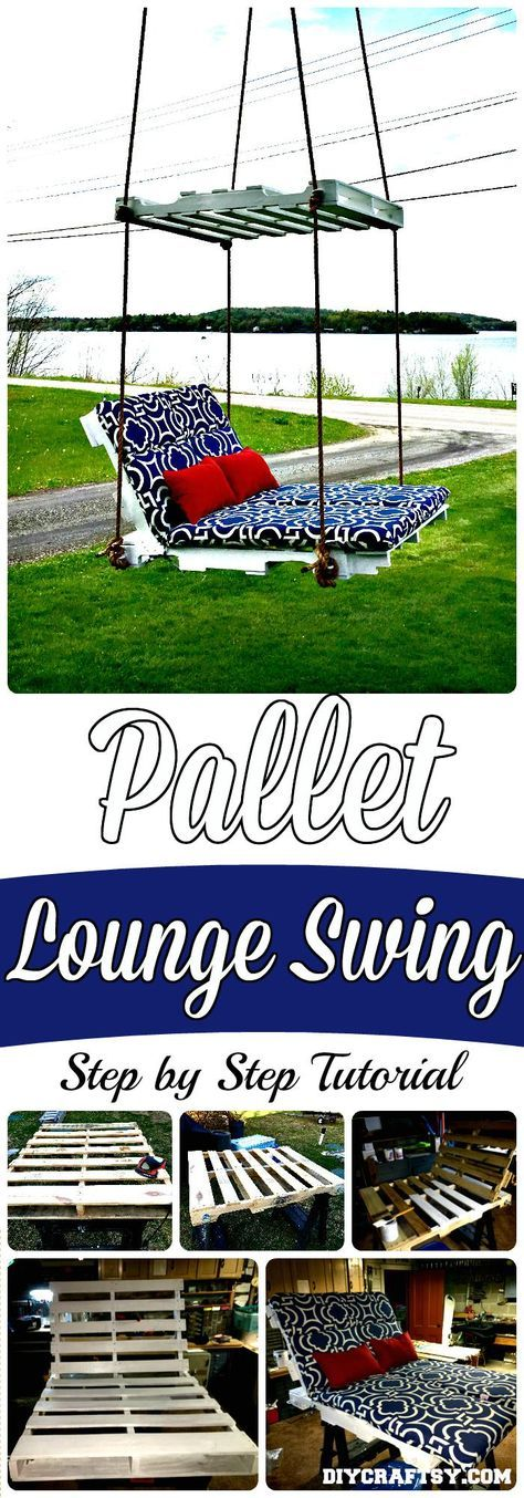 DIY Pallet Swing - 150 Best DIY Pallet Projects and Pallet Furniture Crafts - Page 47 of 75 - DIY & Crafts