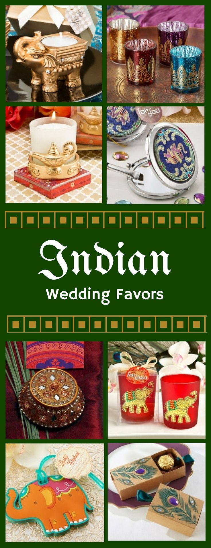 These indian wedding favors are so neat!