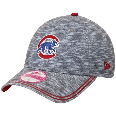 Chicago Cubs New Era Women's Midnite Tech 9TWENTY Adjustable Hat - Heathered Gray
