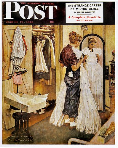 1949- The Prom Dress - by Norman Rockwell