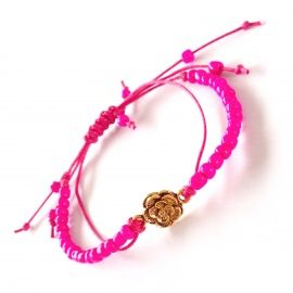 Pretty in pink! Armband handmade by Lekker Bling
