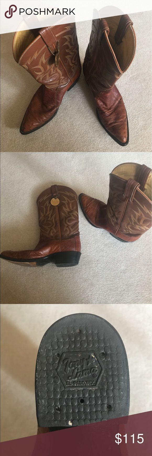 Tony Lama Ostrich Boats Tony Lama boots in exceptional condition. Worn very few times. Tony Lama Shoes Cowboy & Western Boots