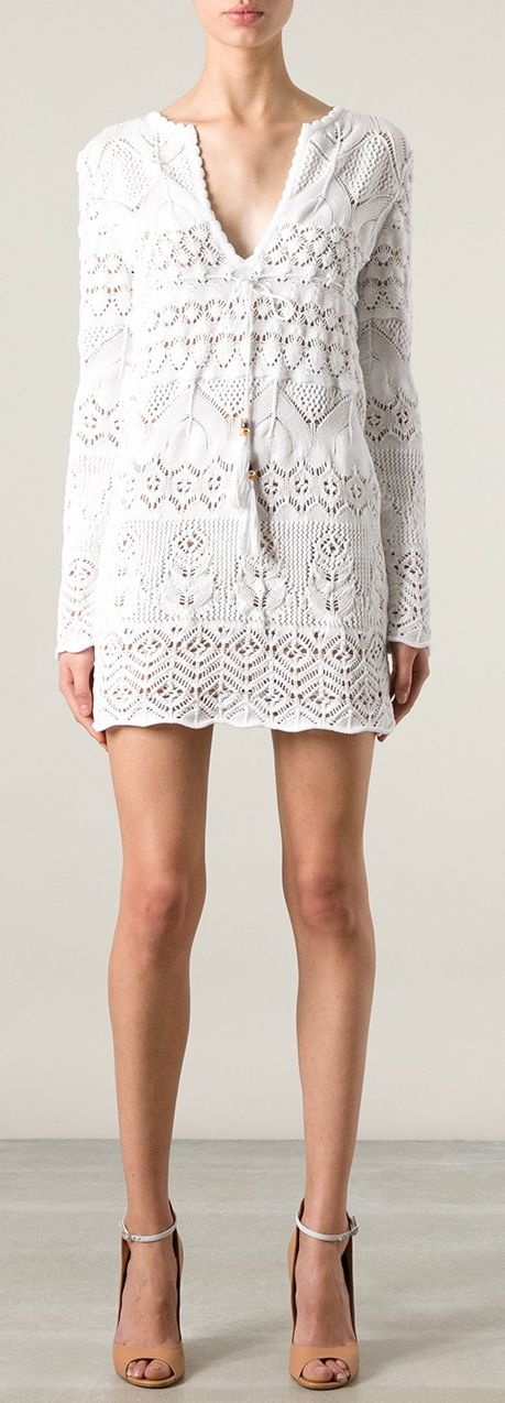 Emilio Pucci - White Knitted Mini Dress