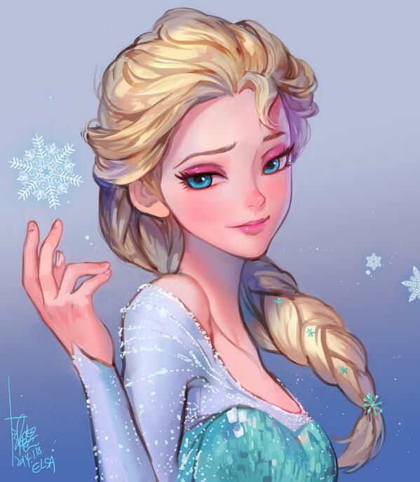A Beautiful Render of Elsa from the movie FROZEN, by furymanura