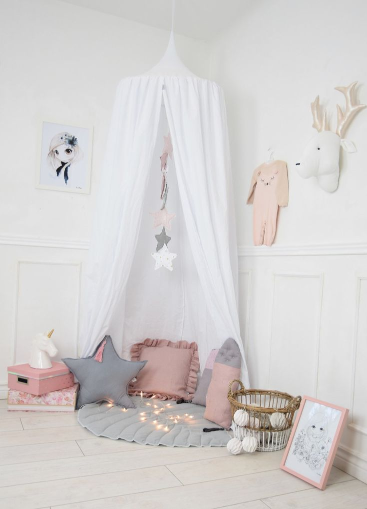Baldachin, Girls Bed Canopy, Nursery Canopy, Hanging Play Tent, Play Mat, Children's Canopy, Bed Canopy, Reading Nook, Hanging Teepee by MamaPotrafi on Etsy