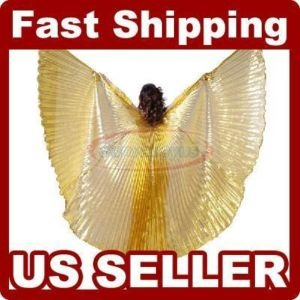 New 360 176 shining belly dance costume large isis wings hot christmas