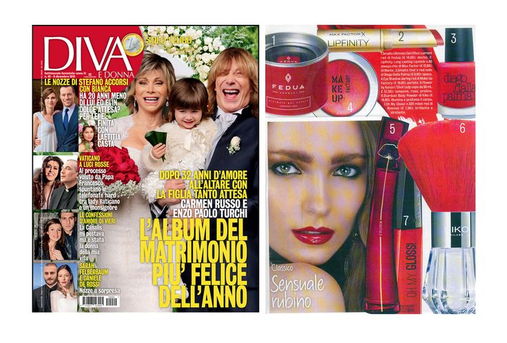 Classic, sensual, ruby: it's Currant Red by Fedua today on #divaedonna Classico, sensuale, rubino: è Currant Red di Fedua oggi su Diva e Donna. #feduacosmetics #christmasinspiration #beautyinspiration