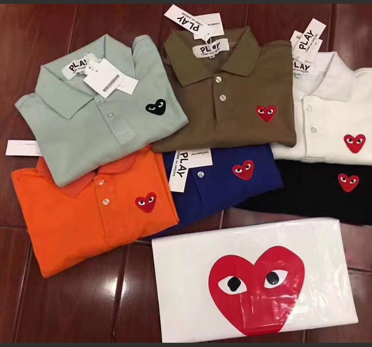 New Mens Comme Des Garcons CDG Play Lovely Red Heart Short Wowem polo T-shirts