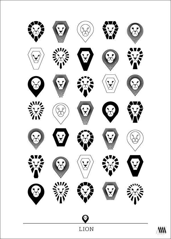 animal PICTOGRAMS posters by Anna Nowokunska, via Behance