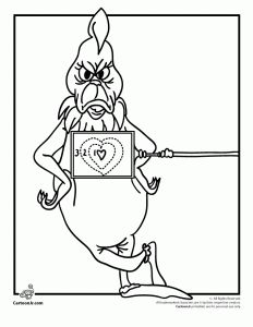 The Grinch's Heart Grew 3 Sizes Coloring Page