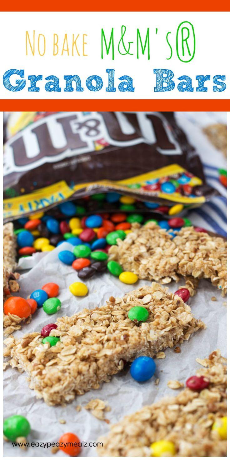 No bake M&M'S granola bars!