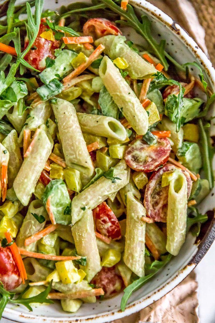 Vegan Green Goddess Pasta Salad