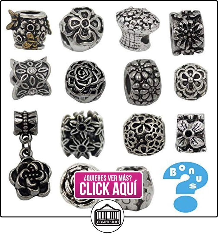Charme plata envejecida de arranque pulsera Beads Fits Pandora joyas Rhinestone–flor  ✿ Joyas para niñas - Regalos ✿ ▬► Ver oferta: https://comprar.io/goto/B014PCNNDE