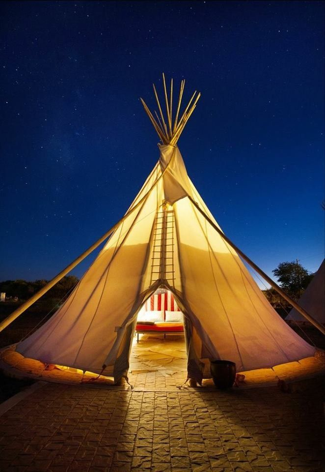 """El Cosmico, Marfa, Texas - included in """"The Strangest Hotels in the South"""" by Bourbon and Boots."""