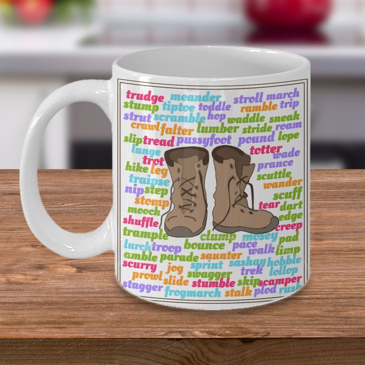 Author mug 'Forms of Walking', Double-Sided Print, 11oz or 15oz by PortunaghDesign on Etsy