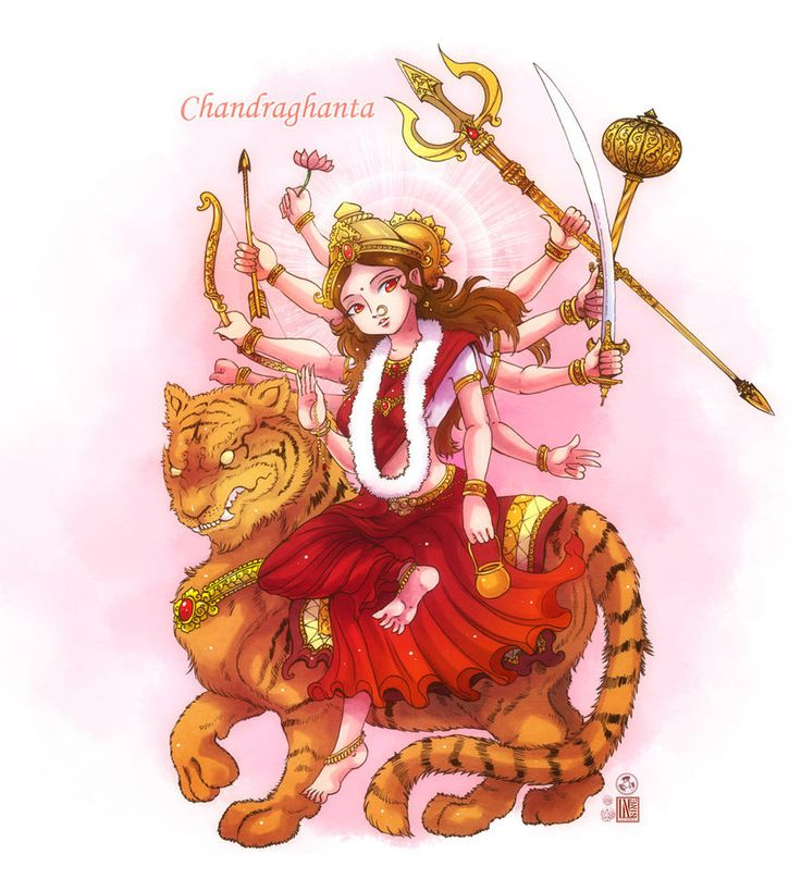 Chandraghanta mata by In-Sine on DeviantArt