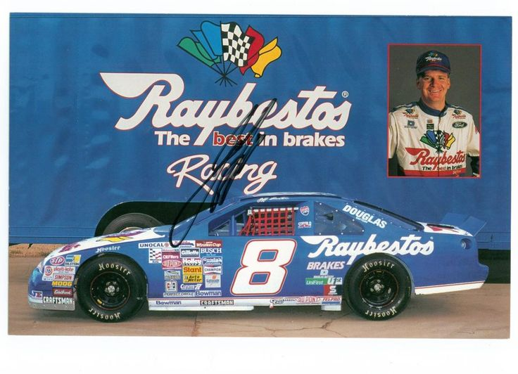 Jeff Burton #8 Raybestos Racing 8x6 Driver/Team Autographed Postcard