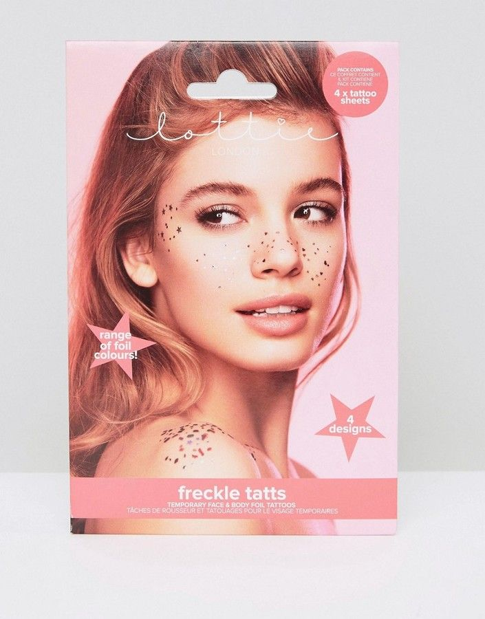 Lottie Metallic Face & Freckle Temporary Tattoos