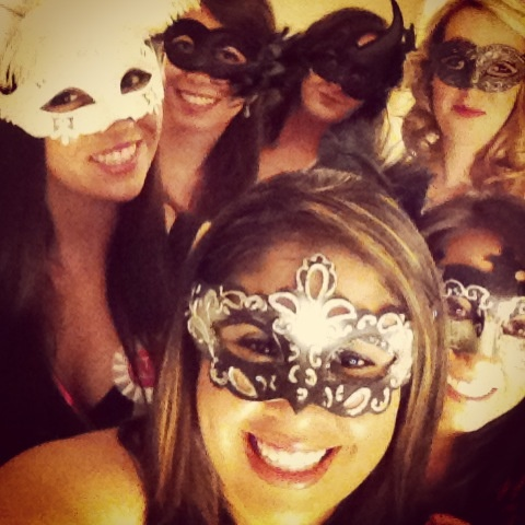 Masquerade bachelorette party!! They sell masks, boas, outfits, wigs, WHATEVER YOU WANT all over the place on Bourbon so if we want to spice it up we easily can :-)