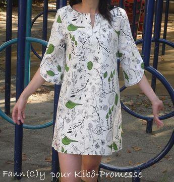 Kibô-Promesse et ma robe-tunique japonaise qui fait cui-cui ...