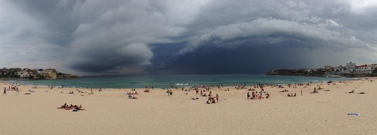 Storm out at sea - Bondi Beach, January 2013