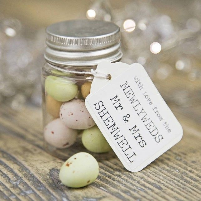 Your guests will love personalized candy favors.