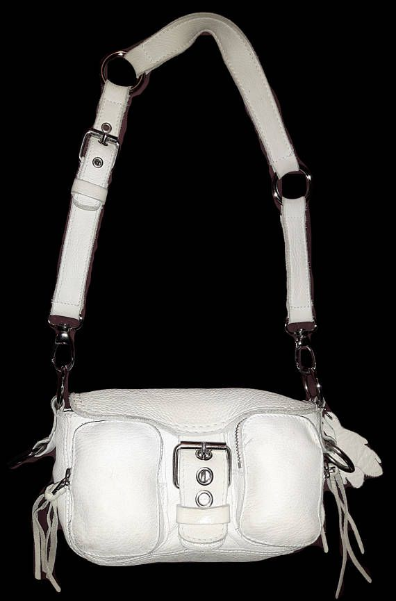 Vintage ROOTS Canada Emily bag Genuine buttery soft White