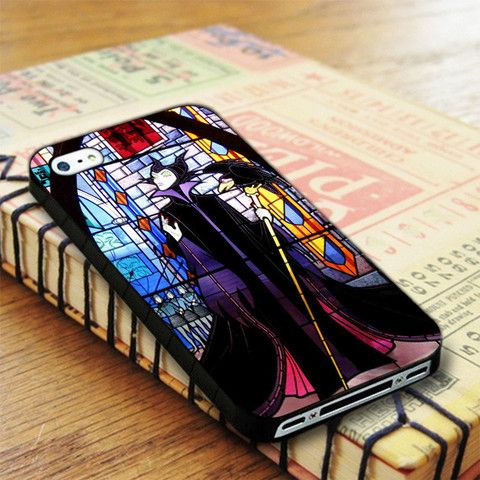 Walt Disney Maleficent And Diablo Stained Glass iPhone 4|iPhone 4S Case