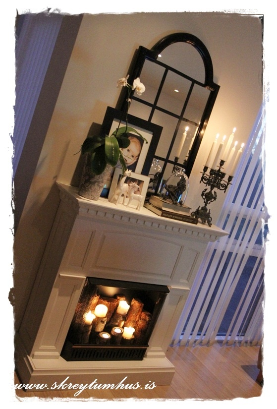 Candles Inside Fireplace And Add Mirrors Or Tile Inside
