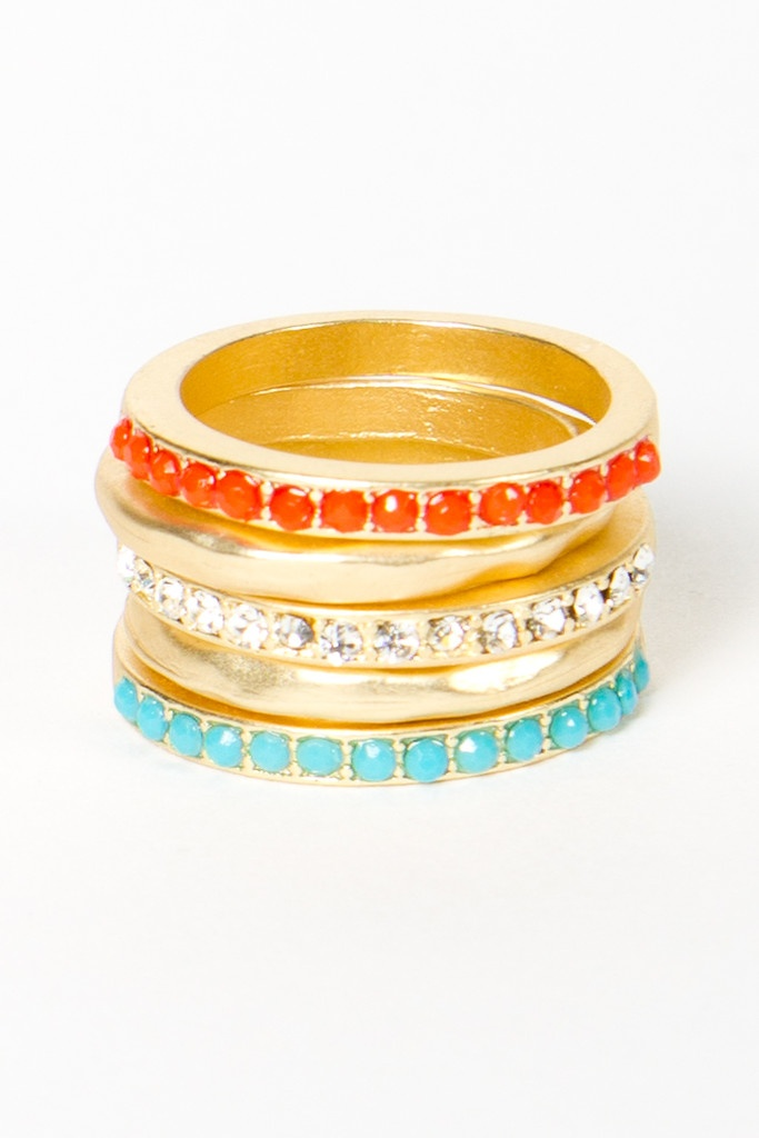 Fun, colorful stackable rings.