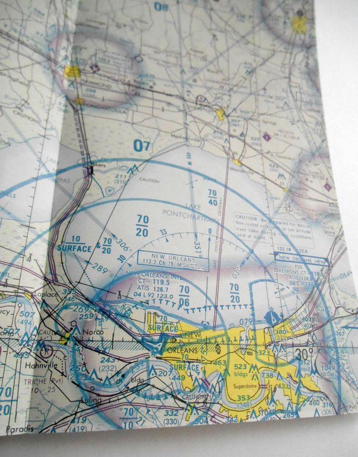 Vintage New Orleans NOAA US National Ocean Survey Nautical Map Airplane aeronautical Navigational chart brochure guide Travel air #Etsy #Vintage #NewOrleans #NOAA US National #Ocean Survey #Nautical #Map  #aeronautical #navigation #chart