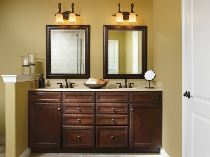 The detailed craftsmanship of aristokraft 39 s wentworth door - Kitchen cabinets as bathroom vanity ...