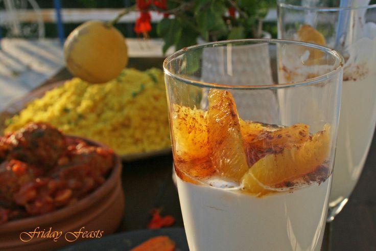 Yogurt Panna Cotta with Orange, Honey & Cinnamon  4 Vibrant Recipes For a Moroccan Thanksgiving Dinner | Friday Feasts  http://2via.me/JhVjP3GL11