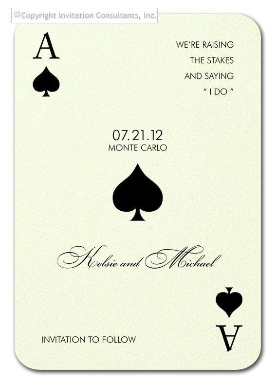 Monte Carlo Save the Date - Party Invitations by Invitation Consultants. (Item # CB-BLU-FUC-T )