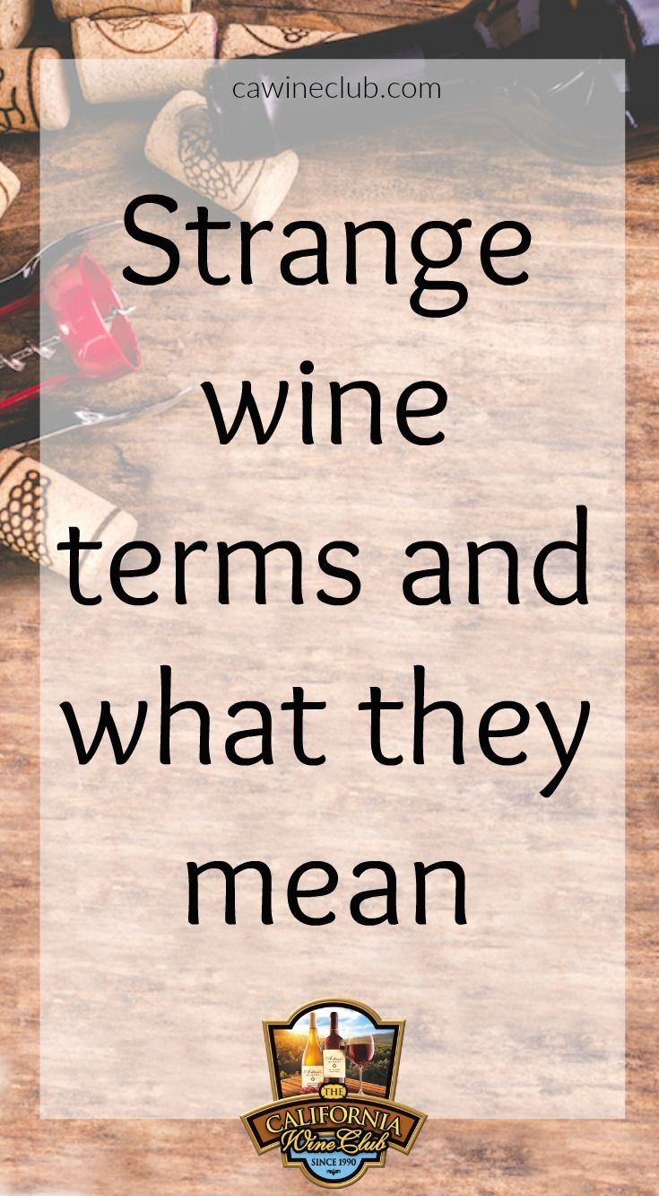Strange Wine Terms and What They Mean