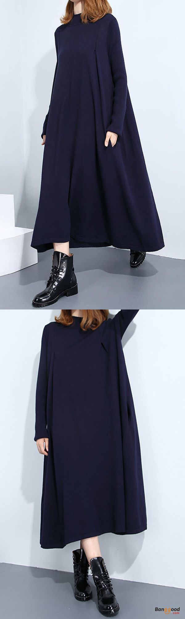 US$22.99 + Free shipping. Size: L~5XL. Color: Black, Navy, Red. Women's Dresses, Long Dresses, Fashion and Elegant. TRY it now!