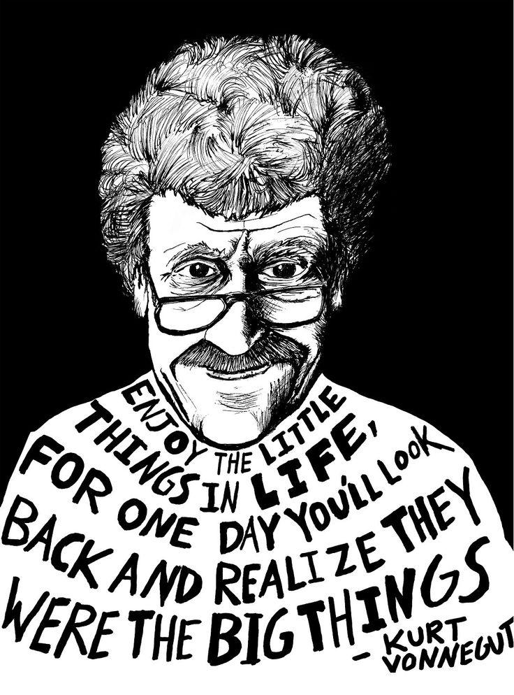 Kurt Vonnegut (Authors Series) by Ryan Sheffield. $15.00, via Etsy.