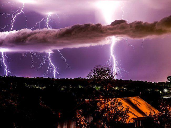 lightning | Lightning over Adelaide during storm on January 17, 2014