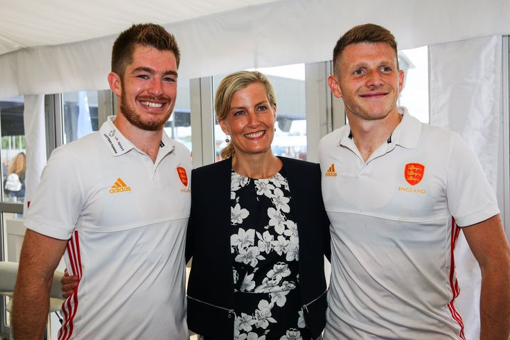 Sophie, Countess of Wessex as Patron of England Hockey, attends the Men's World League Semi-Final at Queen Elizabeth Olympic Park on 25 June 2017 in London.
