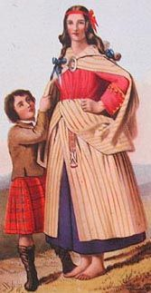 R. R. McIan's 1845. The earasaid is the feminine version of the Great Kilt. There is no definitive information on the earasaid, especially in the early time periods, however, it can be deduced that the earasaid appeared about the same time as the Great Kilt in the late 16th Century.