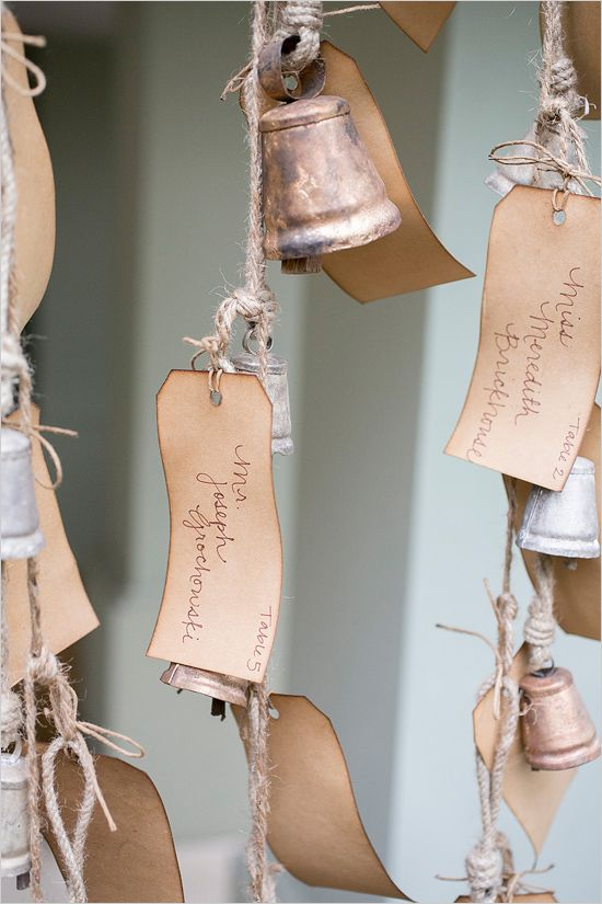 antique bell escort card ideas
