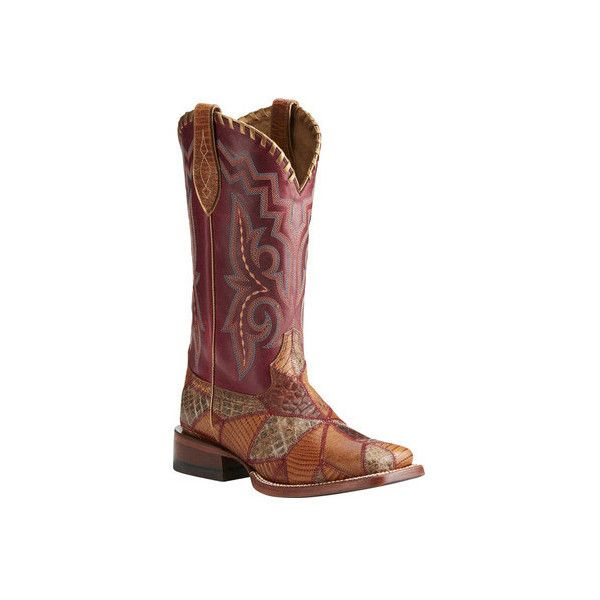 Women's Ariat Reese Cowgirl Boot ($230) ❤ liked on Polyvore featuring shoes, boots, casual, riding boots, tan knee high boots, leather knee high boots, western riding boots, cowgirl boots and mid calf leather boots