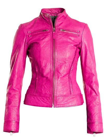 I just got a version of this jacket (blanc nior)  Danier Pink Leather Jacket Style # 104020122  SALE $99 (Reg $399)