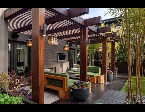 13 best images about cobertizos y portones on pinterest for Patios y terrazas
