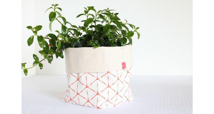 Large Fabric Tripod Bucket