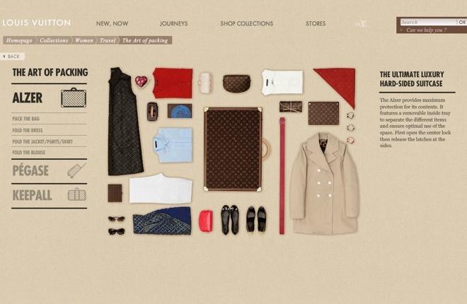 ルイ・ヴィトンがパッキング術公開 インタラクティブな新コンテンツ | Fashionsnap.com