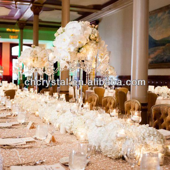 candelabros de cristal de la boda a la ventaarms altos candelabros centros de mesa
