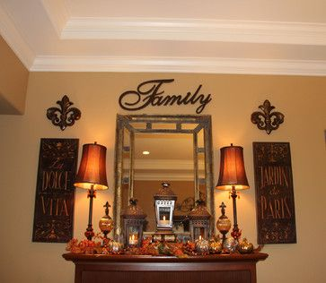 Fall Display/Dining Room Mantle - traditional - dining room - seattle - Savvy Seasons