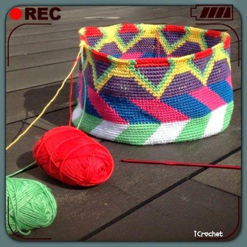 iCrochetstuff: Tapestry Mochila bag haken crochet (work in progress)